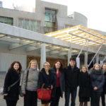 MSc students in front of the Scottish Parliament